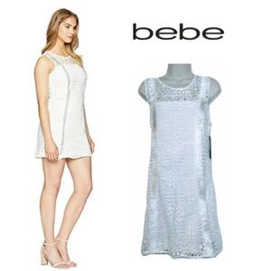BEBE Woman's 12 Lace Fringe Dress